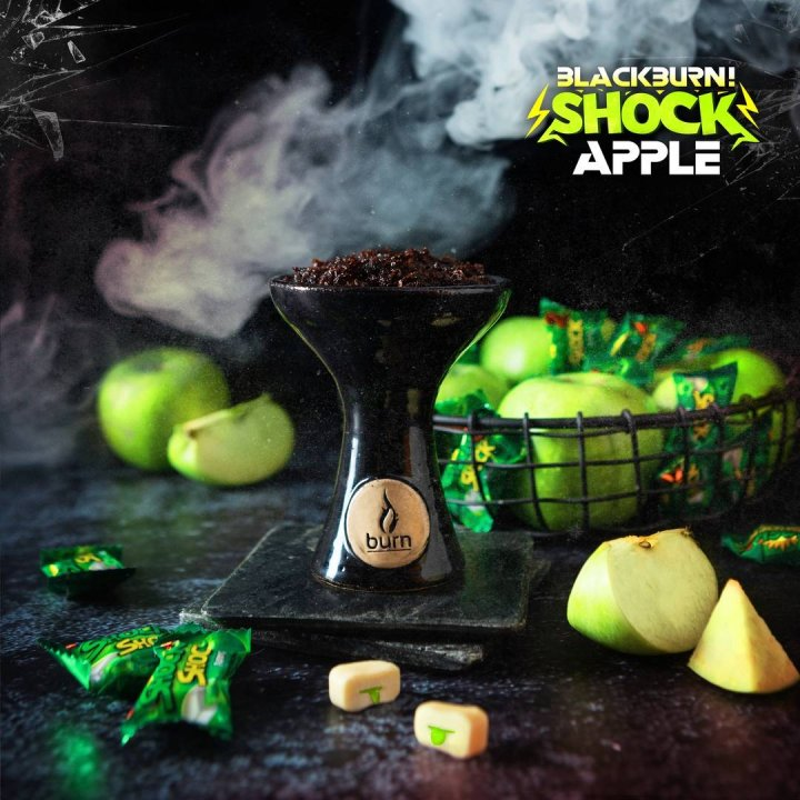 Табак BlackBurn Apple SHOCK 100г (Табак Блек Берн Яблоко )