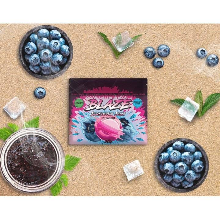 Бестабачная смесь BLAZE  Blueberry Jelly  50г (Бестабачная смесь Блэйз  Черничное желе )
