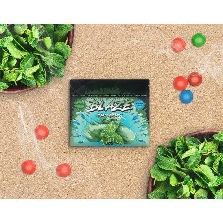 Бестабачная смесь BLAZE  Mint Candy 50г (Бестабачная смесь Блэйз Мятная жвачка  )