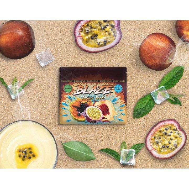 Бестабачная смесь BLAZE Jungle Boom 50г (Бестабачная смесь Блэйз  Тропические фрукты )