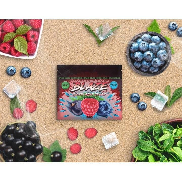 Бестабачная смесь BLAZE Berry Mint Crush 50г (Бестабачная смесь Блэйз  Лесные ягоды с мятой )