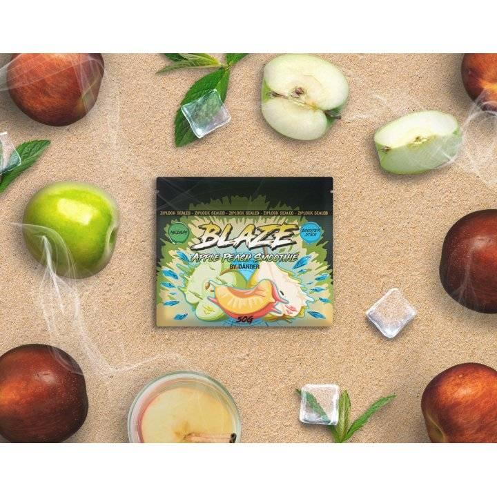Бестабачная смесь BLAZE  Apple Peach Smoothie 50г (Бестабачная смесь Блэйз  Яблочно-Персиковое смузи )
